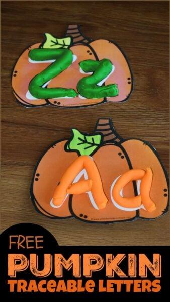 FREE Pumpkin Traceable Letters