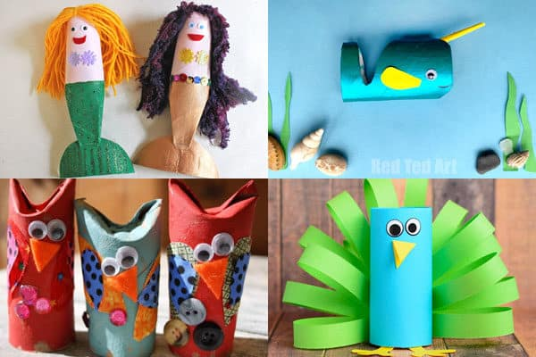 fun to make toilet paper roll crafts for m,n,o, p