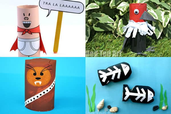 toilet paper roll crafts for letter u, v, w, and z