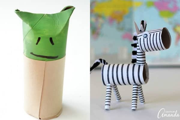 y is for yoda and z is for zebra toilet paper roll craft