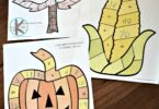 FREE Fall Kindergarten Math Worksheets - free printable fall activity to help kids practice counting while having fun. Print in color or black and white #kindergarten #math #fall