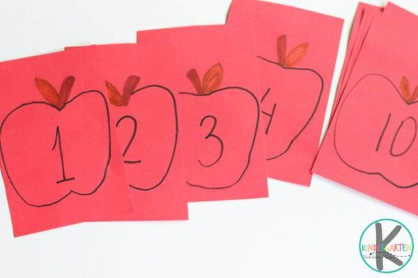 fun apple math activity for prek, preschool, and kindergarten