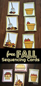 fall sequence activities for preschoolers
