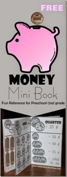 FREE Printable Money Mini Book