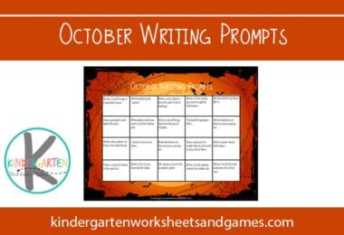 October Creative Writing Prompts