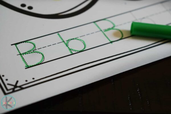 tracing letters activity for kids