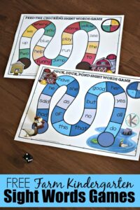 farm kindergarten sight words games with a clever activity for kindergarten and first graders perfect for a farm theme