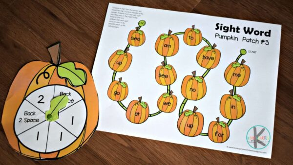 this is such a fun way for kindergarten age kids to practice sight words
