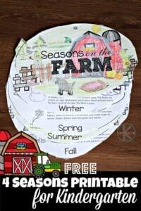 FREE Seasons for Kindergarten flip book to help preschoolers and kindergartners learn about 4 seasons #seasons #kindergarten
