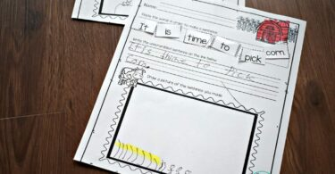 free printable sentence worksheets for kindergartners on life on the farm