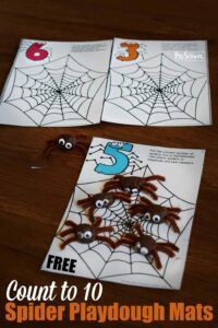 Count to 10 Spider Playdough Mats