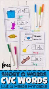 CVC Cut and Paste Printable