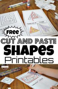 cut and paste shapes printable