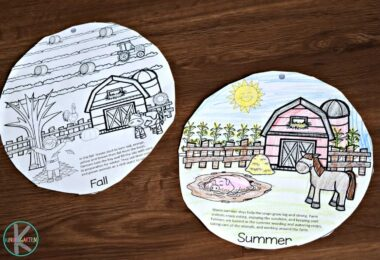 fun science activity for learning about the four seasons for kids
