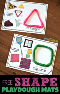 shape playdough worksheets