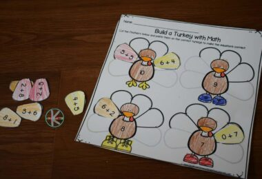 free thanksgiving worksheet that is also a math activity for kindergarteners