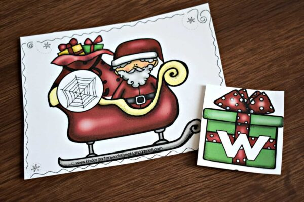 Super cute Christmas alphabet activity for prsechool, prek and kindergarten age kids