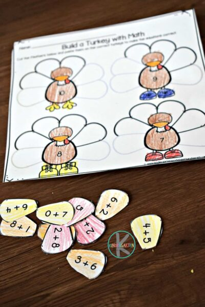 super cute turkey math activity perfect for November