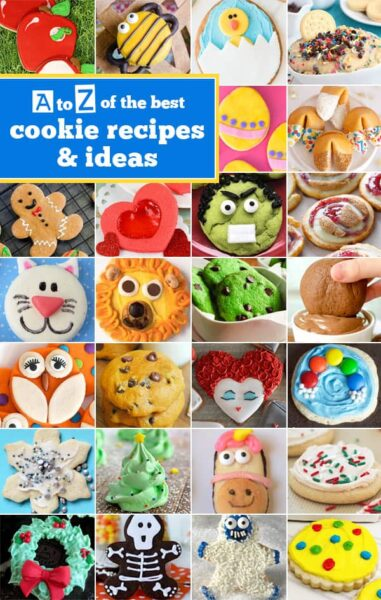 Alphabet Cookies - The Best Cookie Recipes from A to Z! Whether you are looking to bake through the alphabet or try something new - you will love these recipes! #recipes #cookierecipes #yummy