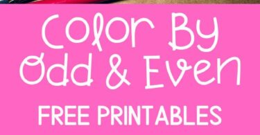 FREE Odd and Even Numbers Worksheet for Valentines Day - kindergarten and first grade kids will have fun practicing identifying odd and even numbers with these free printabel color by code math worksheets for feburary #valentinesday #valentinesdaymath #kindergarten