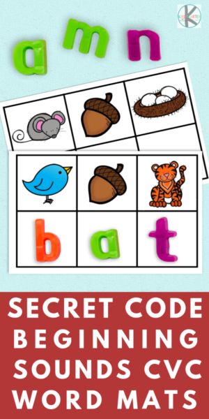 CVC Words Activity -this is such a fun, clever, hands-on and FREE phonics activity for prek and kinderfarten age kids as they work on learning the sounds letters make! Simply print free printable with secret code #cvcwords #kindergarten #phonics