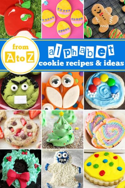 A to Z Best Cookie Recipes - The Best Cookie Recipes from A to Z! Whether you are looking to bake through the alphabet or try something new - you will love these recipes! #recipes #cookierecipes #yummy