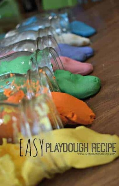 2 ingredient, easy playdough recipe