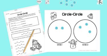 Snowman Math worksheets for Kindergartners