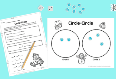 Snowman Math worksheets for Kindergartners