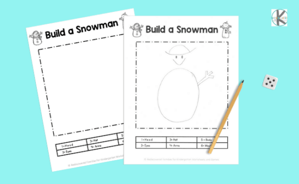 build a snowman kindergarten math