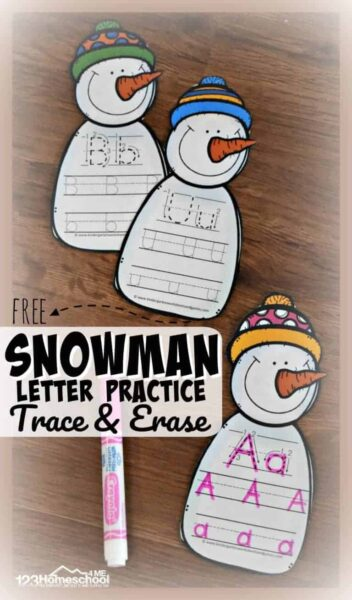 Snowman Trace and Erase
