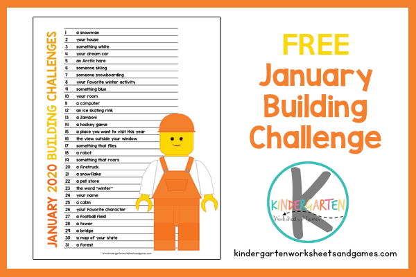 Use this free printable January Activty Calendar to help kids complete these fun STEM Challenges