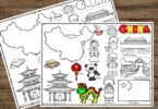 China coloring sheet