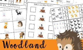 woodland animals worksheets