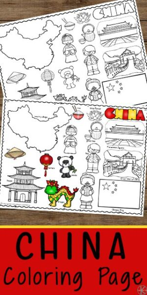 FREE China Coloring Pages - kids will have fun learning about china with these free printable coloring sheets. This is a great way to learn about countries around the world with kids and to go along with a geography study #chinaforkids #coloringsheets #chinaprintables #preschool #kindergarten
