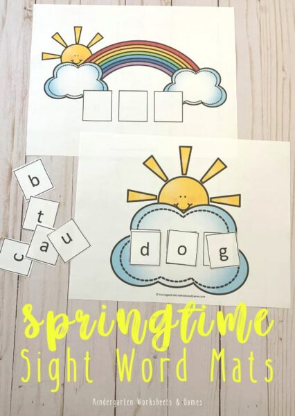 FREE SPring CVC Words for Kindergarten Activity - Help kids practice CVC Words for Kindergarten with this free printable spring activity to help students learn these key sight words! #cvcwords #kindergarten #sightwords #cvcwordsactivity #cvcwordsprintable #springlearning