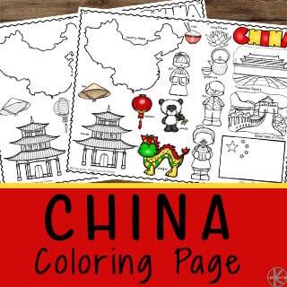 free China Coloring Page