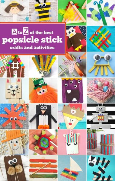 Looking for  some super cute, clever, and FUN popsicle stick crafts? We have over 100 popsicle stick crafts for toddler, preschool, pre k, kindergarten, and first grade students to make. We have popsicle stick craft ideas to go along with any theme, season, or letter of the alphabet from A to Z!