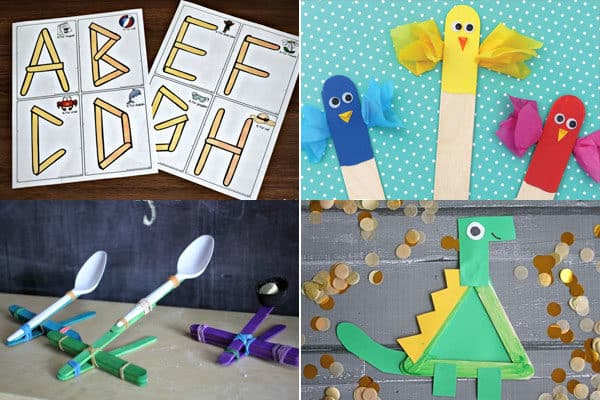 letter a, b, c, and d crafts