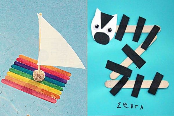 a to z alphabet crafts using popsicle sticks
