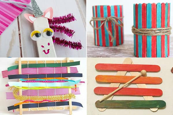 preschool crafts for kids to create with wooden craft sticks