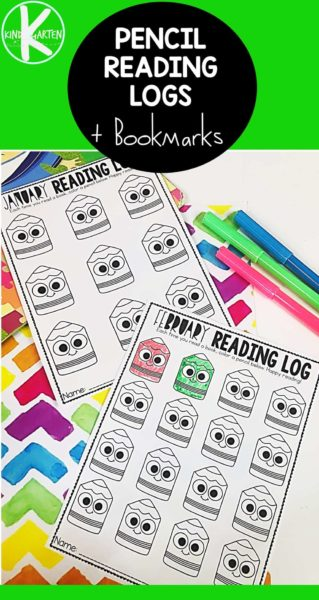 FREE Pencil Reading Log Printable - help kids track reading and motivate kids with this fun, free printable for kindergarten, first grade, 2nd grade and more. Great for summer reading and back to school #readinglogs #reading #kindergarten #summerreading