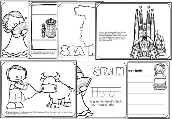 spain coloring pages