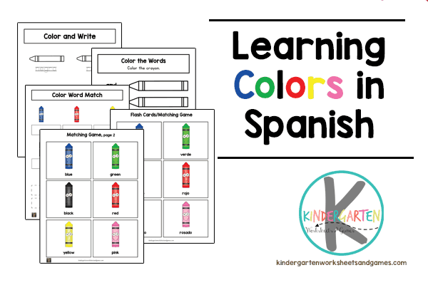 Learning Colors In Spanish Worksheet
