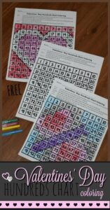 free pritnable math worksheets to practice numbers 1-100 while revealing hidden pictures for valentines day