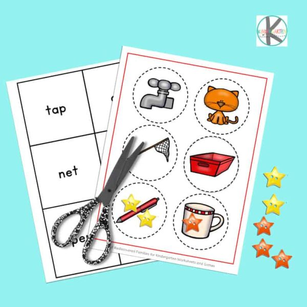 fun, hands on cvc word activity for kindergarten age students