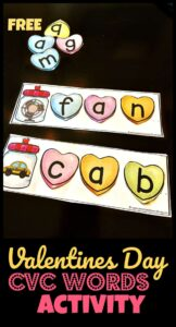 Valentines Day CVC Words Activity