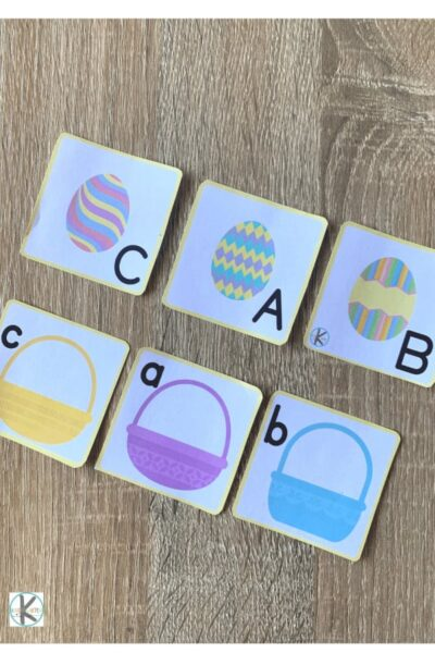 fun, hands on Easter Activities for Kindergartners to practice alphabet, alphabetical order, spelling words, and more with kindergarten and first graders