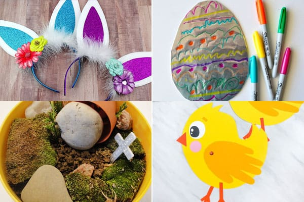 easter egg, easter basket, easter bunnies, easter chicks, and other easter crafts for preschoolers, toddlers, kindergartners