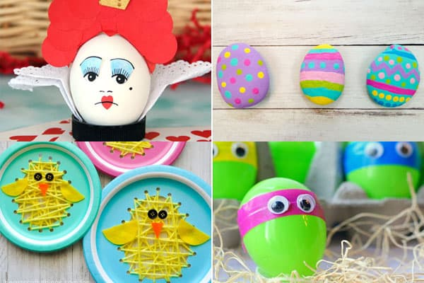 super cute ways to decorage an easter egg, egg crafts and easter crafts for kids